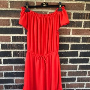 Orange Mossimo Off the Shoulder Dress - Size S